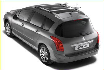 barres de toit transversales aluminium pour peugeot 308 sw. Black Bedroom Furniture Sets. Home Design Ideas